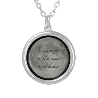 Full Moon Love Silver Plated Necklace