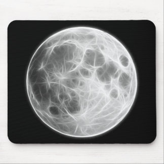 Full Moon Lunar Planet Globe Mouse Pad