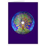 Full Moon Mandala Greeting Card