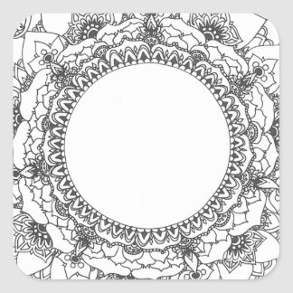 Full Moon Mandala Square Sticker