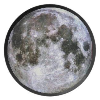 Full Moon Melamine Plate