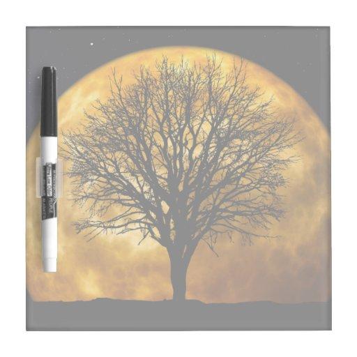 Full Moon Midnight Dry Erase Board