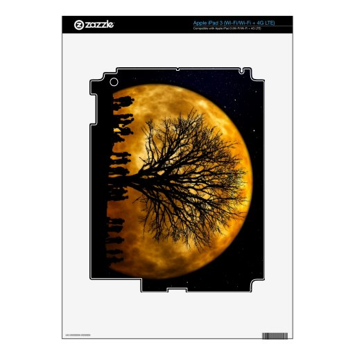 Full Moon Midnight eReaders and Tablet Skin iPad 3 Skin