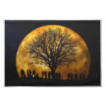 Full Moon Midnight Placemat Cloth Place Mat