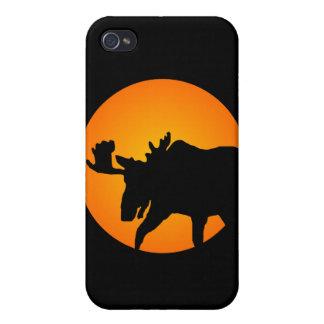 Full Moon Moose iPhone 4 Case