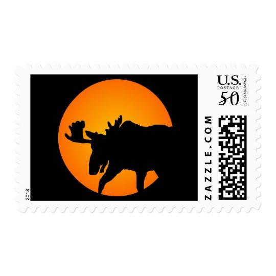 Full Moon Moose Postage