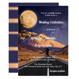 Full Moon Mountains Starry Night Wedding Collection