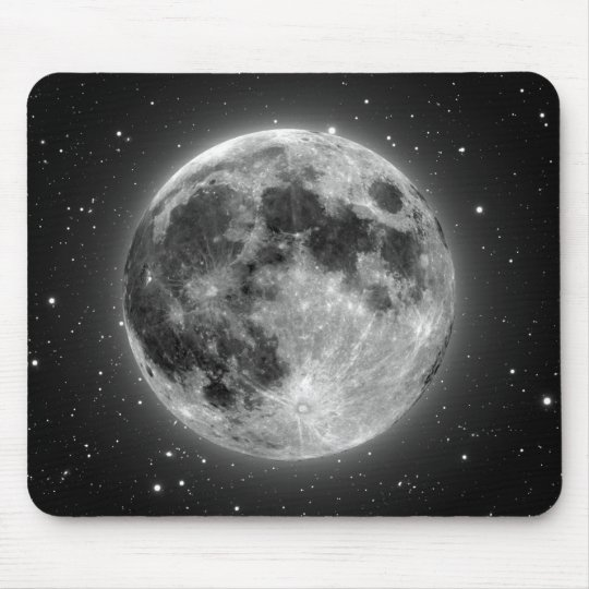 Full Moon Mouse Pad
