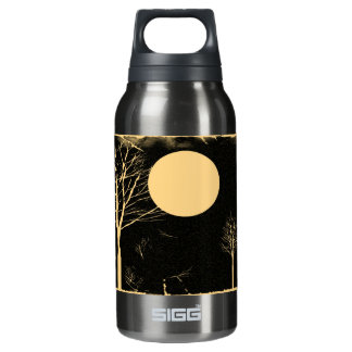 Full Moon Night and Tree - Vintage Insulated Water Bottle