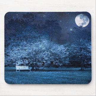 Full moon night in park mousepads