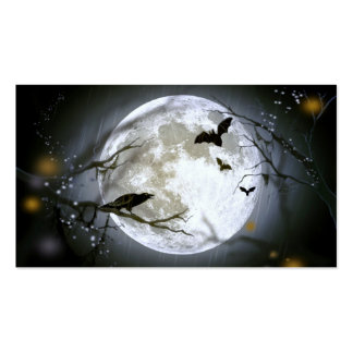 FULL MOON NIGHT too.jpg Double-Sided Standard Business Cards (Pack Of 100)
