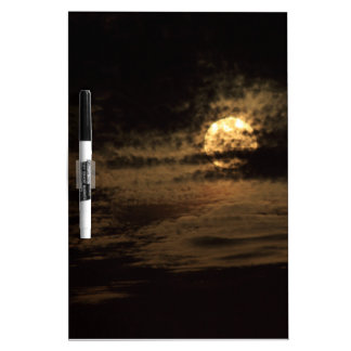 Full Moon of November hiding in the clouds Dry-Erase Board
