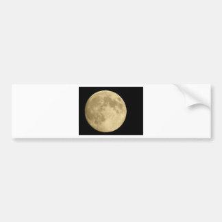 Full moon on black background bumper sticker
