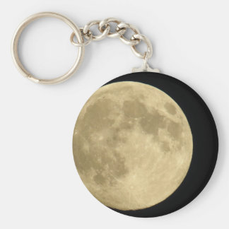 Full moon on black background keychain