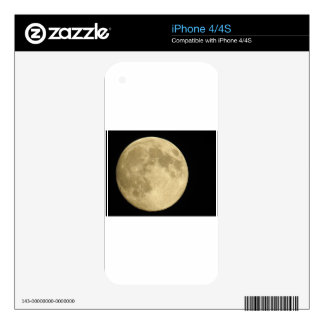 Full moon on black background skin for iPhone 4