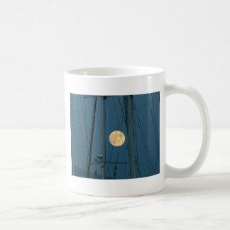 Full Moon Over A Marina Coffee Mug