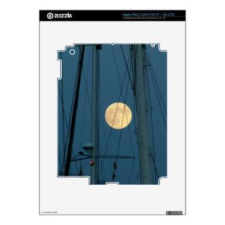 Full Moon Over A Marina Skins For iPad 3