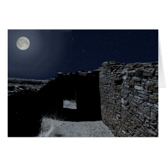 Full Moon Over Chaco Card