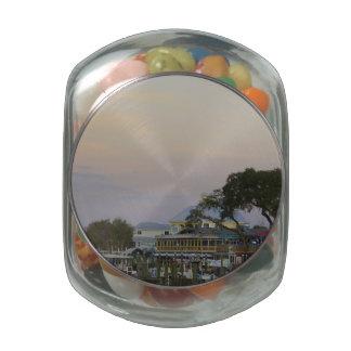 Full Moon Over Homosassa Springs Glass Jar