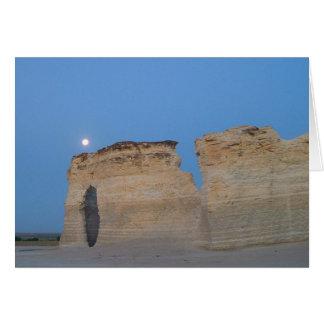 Full Moon Over Monument Rocks Card