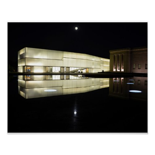 Full Moon over Nelson-Atkins Museum of Art Poster