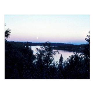 Full Moon over Nikiski Lake Postcard