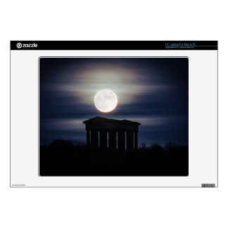 Full Moon over Penshaw Monument Laptop Skin