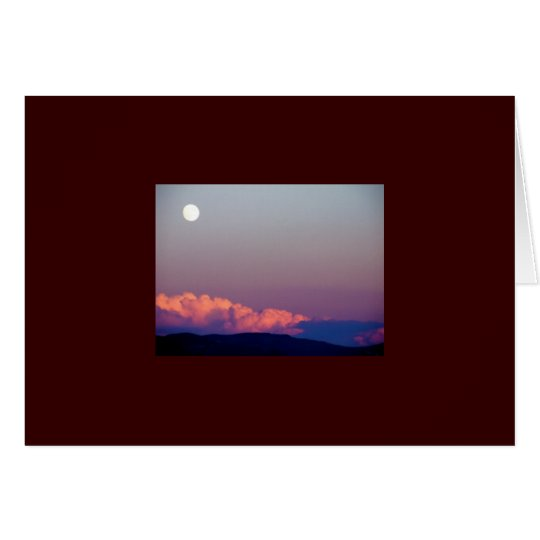 Full Moon Over Reno Thank you card