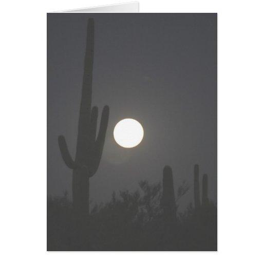 Full Moon over the Desert Card