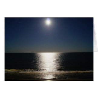 Full Moon over the Ocean Stationery Note Card