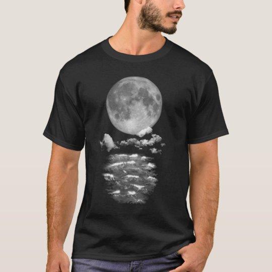 Full moon over the ocean T-Shirt