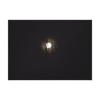 Full Moon Over Virginia Beach Canvas Print