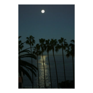 Full Moon Over Water Posters