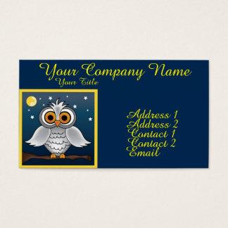 Full Moon Owl Business Card