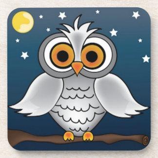 Full Moon Owl Drink Coaster