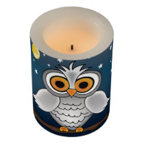 Full Moon Owl Flameless Candle