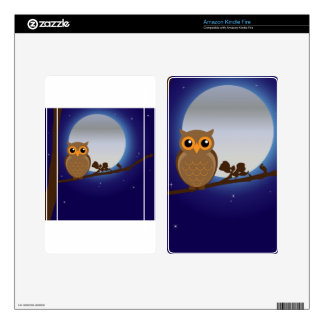 Full Moon Owl Kindle Fire Decals