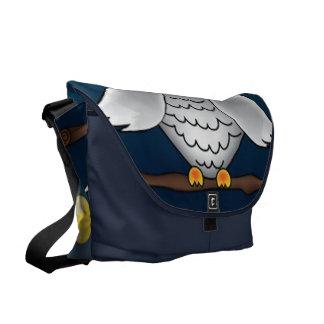 Full Moon Owl Messenger Bag