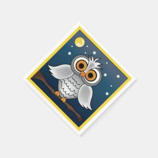 Full Moon Owl Napkin