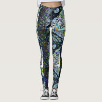 Full Moon Owl Night Patterned Leggings
