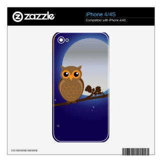 Full Moon Owl Skin For iPhone 4S
