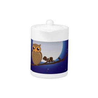 Full Moon Owl Teapot
