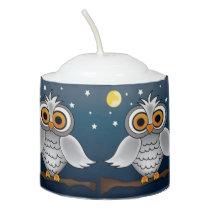 Full Moon Owl Votive Candle