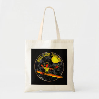 Full Moon Paddler Kayaking Canoeing Budget Tote Bag