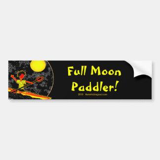 Full Moon Paddler Kayaking Canoeing Bumper Sticker