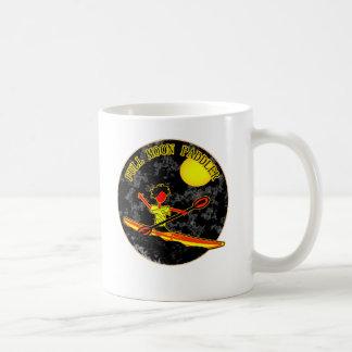 Full Moon Paddler Kayaking Canoeing Classic White Coffee Mug