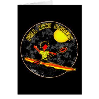 Full Moon Paddler Kayaking Canoeing Greeting Card