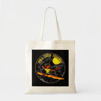 Full Moon Paddler Kayaking Canoeing Tote Bag