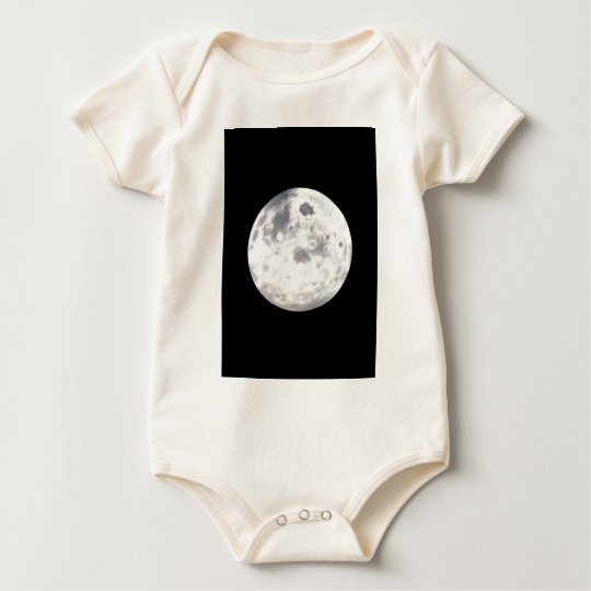 Full Moon Painting For Baby Baby Bodysuit