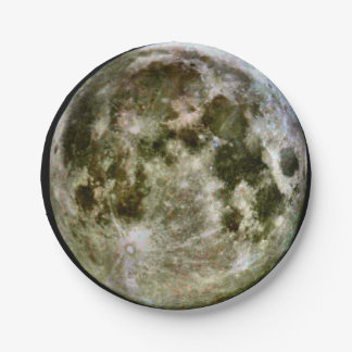 Full Moon Paper Paper Plate